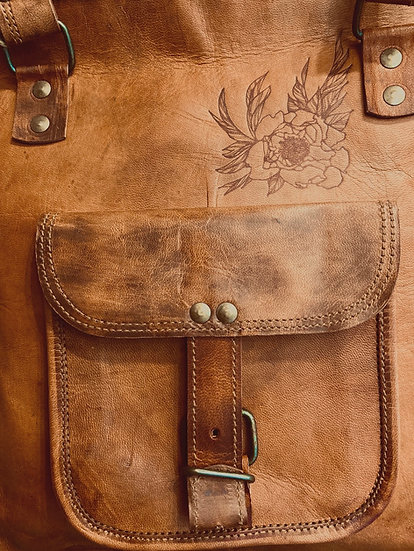 Peony Leather Handbag