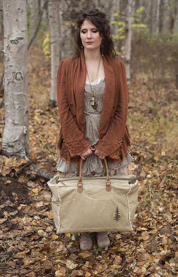 White Spruce Moon Rugged Canvas Carry-All