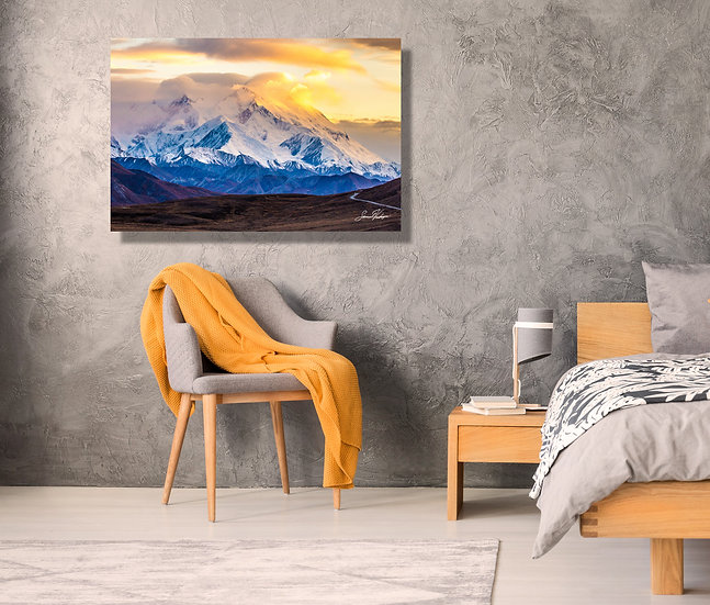 Denali's Majesty Metal Wall Art