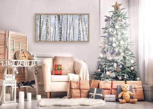 Winter Wonderland Forest Christmas wall.