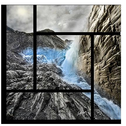 Glacier Blue Parquet