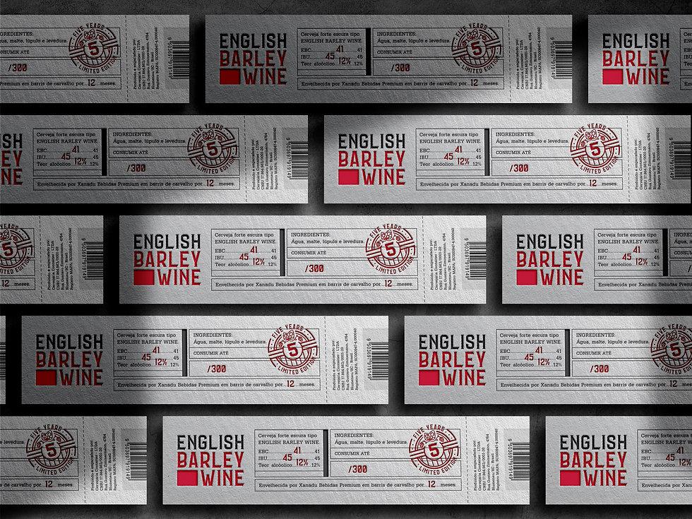 English Barley Wine Container, Rótulo