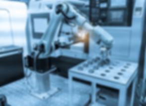 robotic hand machine tool at industrial