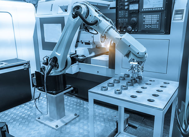 robotic hand machine tool at industrial