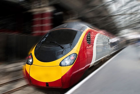 Modern Fast Passenger Commuter Train in