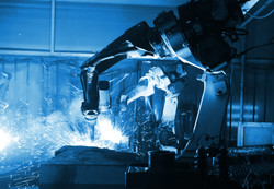welding robot  in the automotive parts