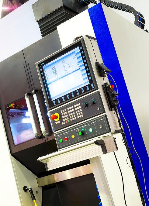 Digitally controlled modern cnc lathe in