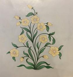 sample for floral mural