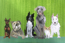 sketch for a mural with dogs