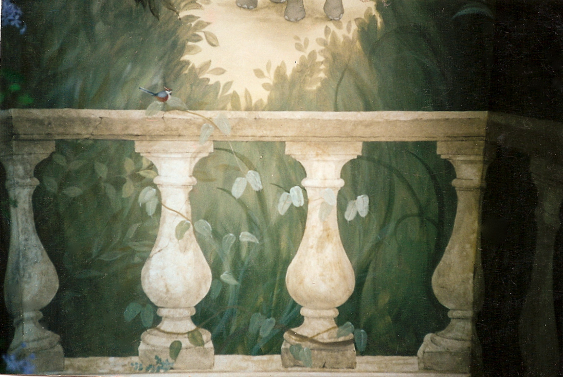 balustrade detail - conservator wall