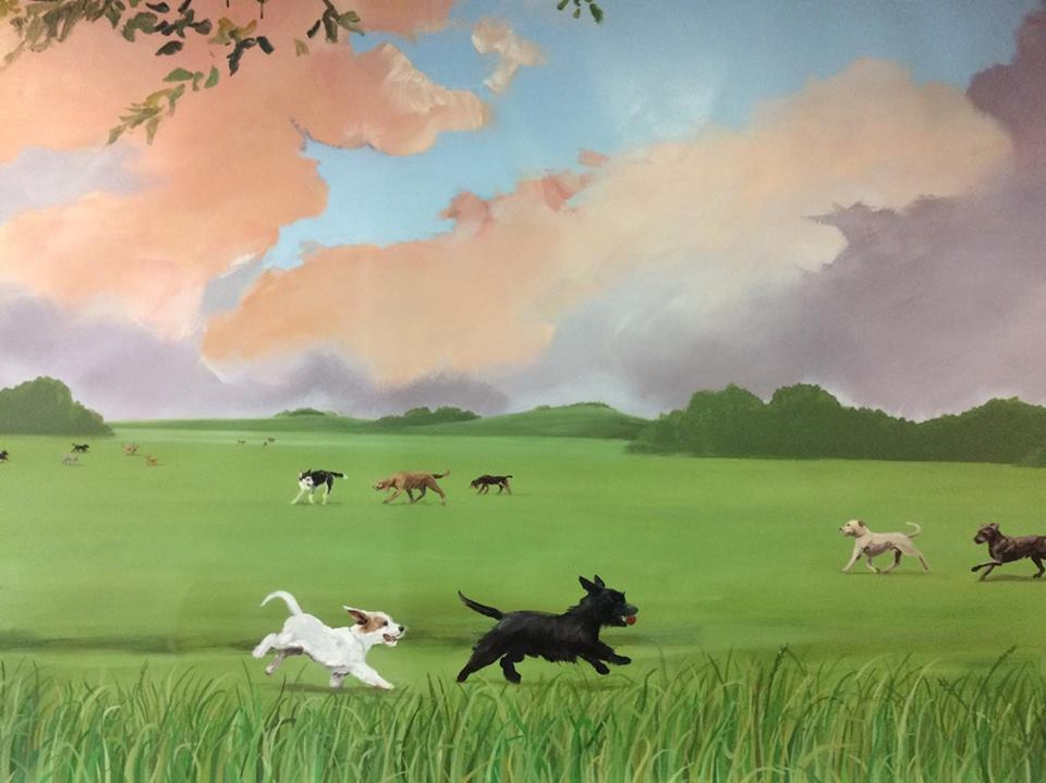 Wider documention of dog mural