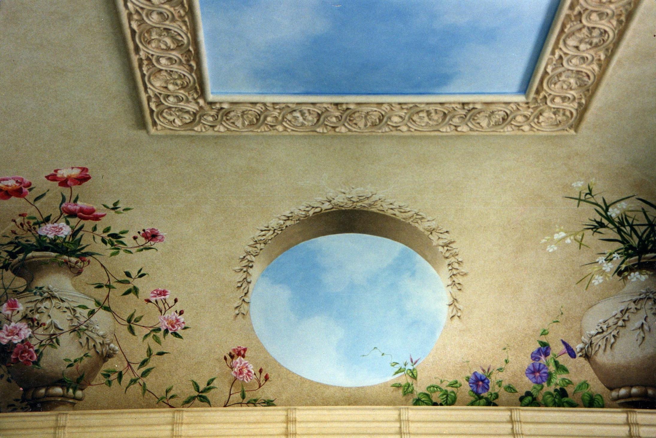 Cloud detail in larger mural