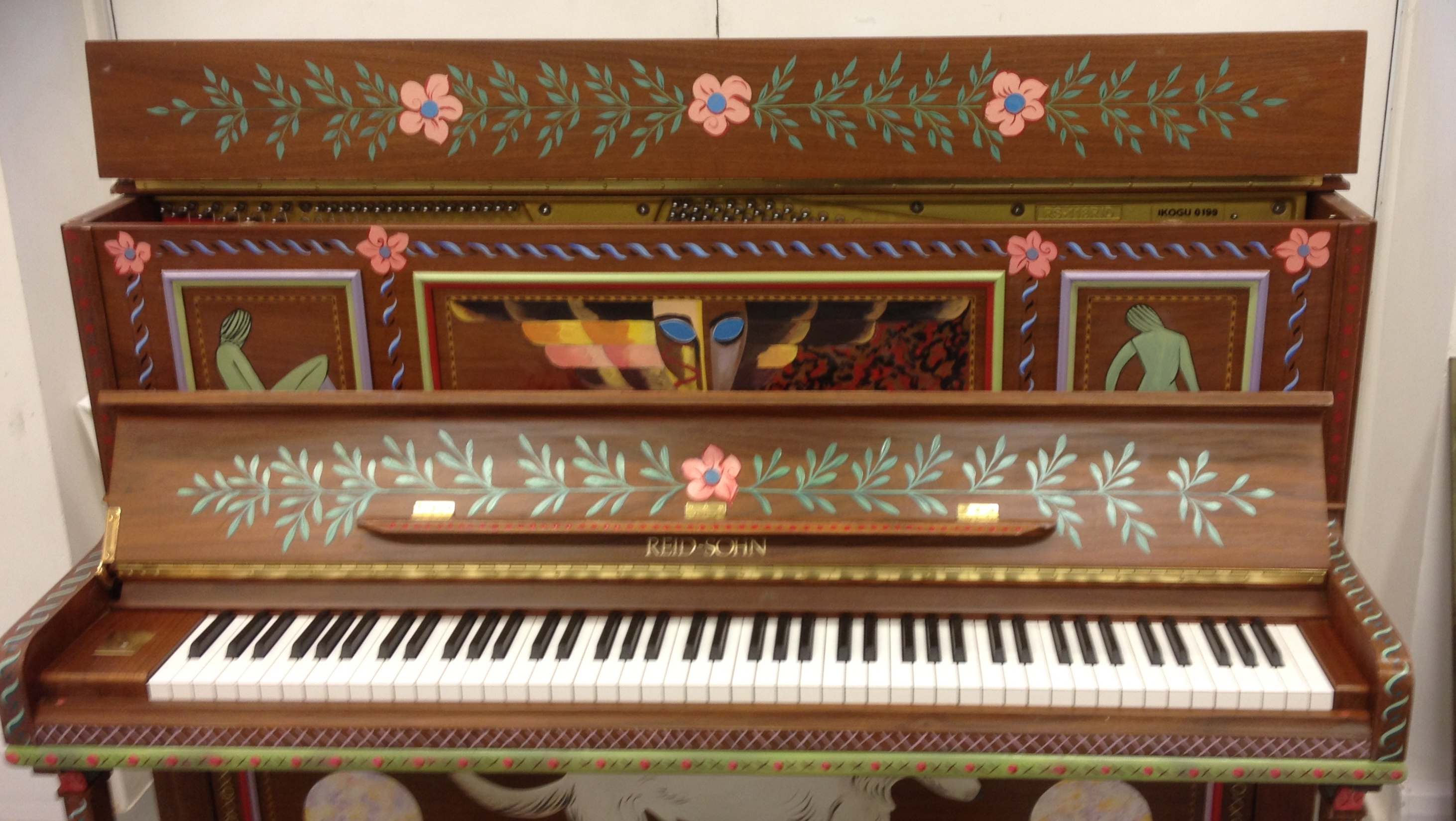 Charleston Inspired Painted Piano
