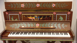 painted piano detail