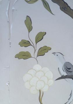 Stylised birds and oak