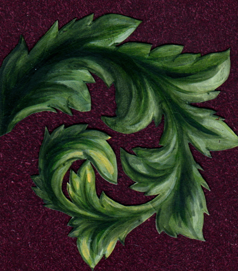 Acanthus leaf background