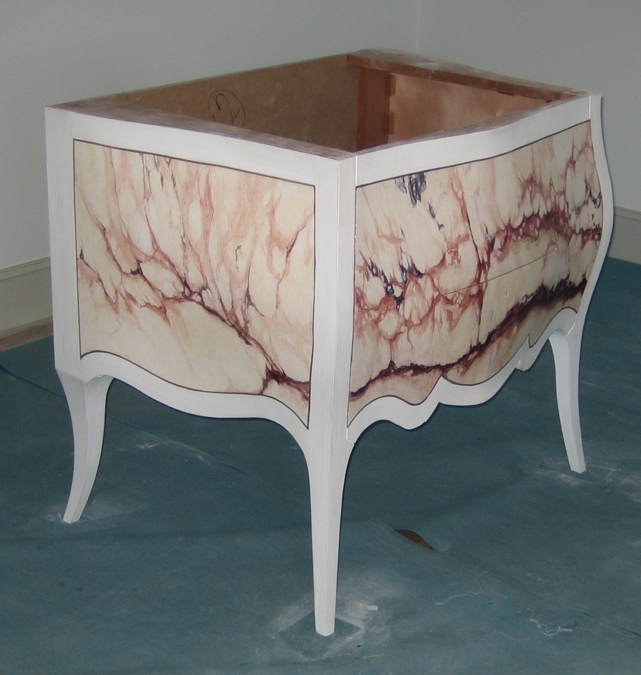 Marbling onto furniture