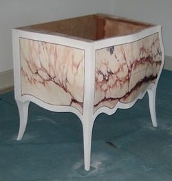 faux marble chest of drawers