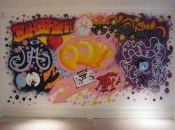 games room mural