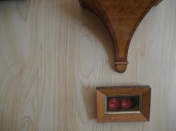 faux pine drawingroom wall