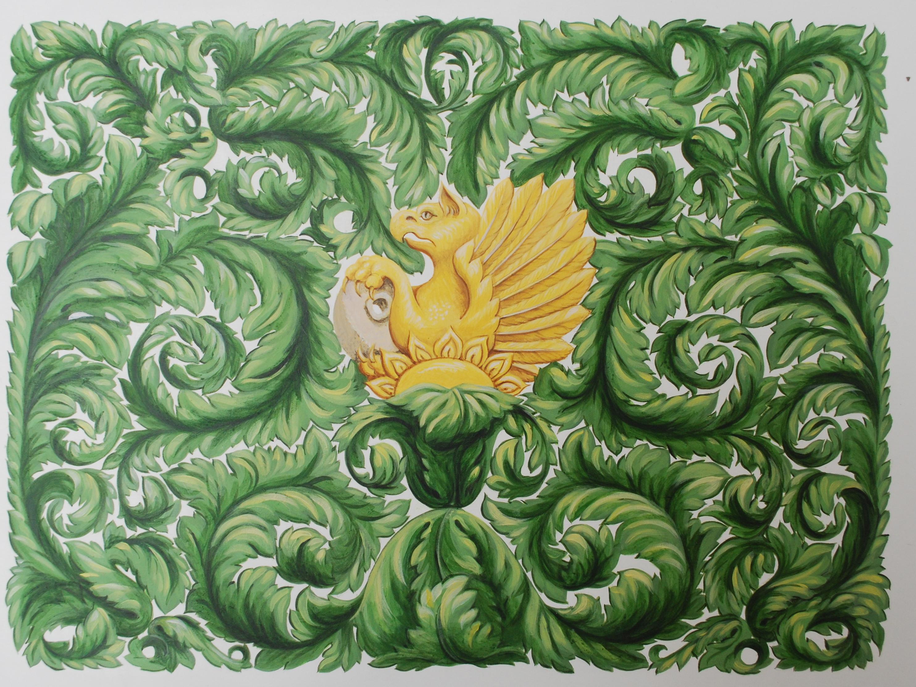 Dragon amongst the fern