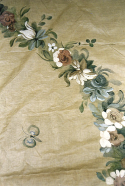 hand painted curtain fabric dawson dining room