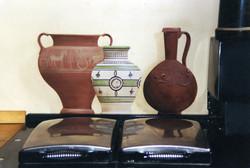 Faux kitchen antique pots