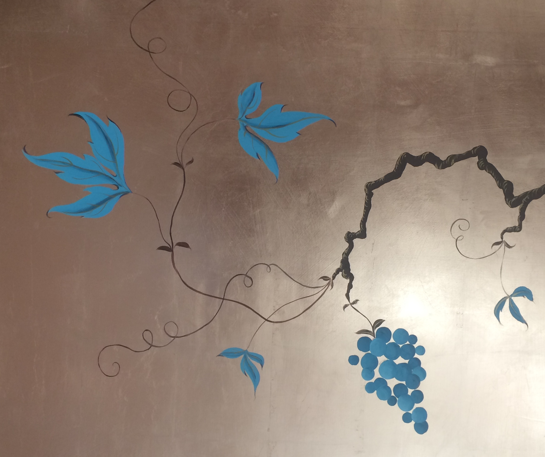 Vine and Grape Design on Copper
