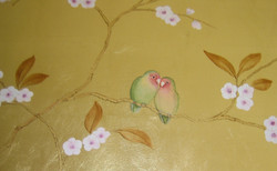 Lovebirds and Cherry blossom