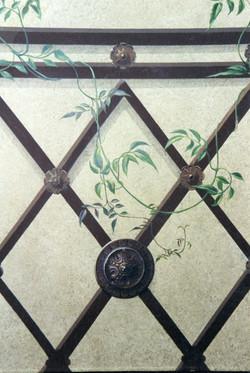 Jasmine on ironwork trelis