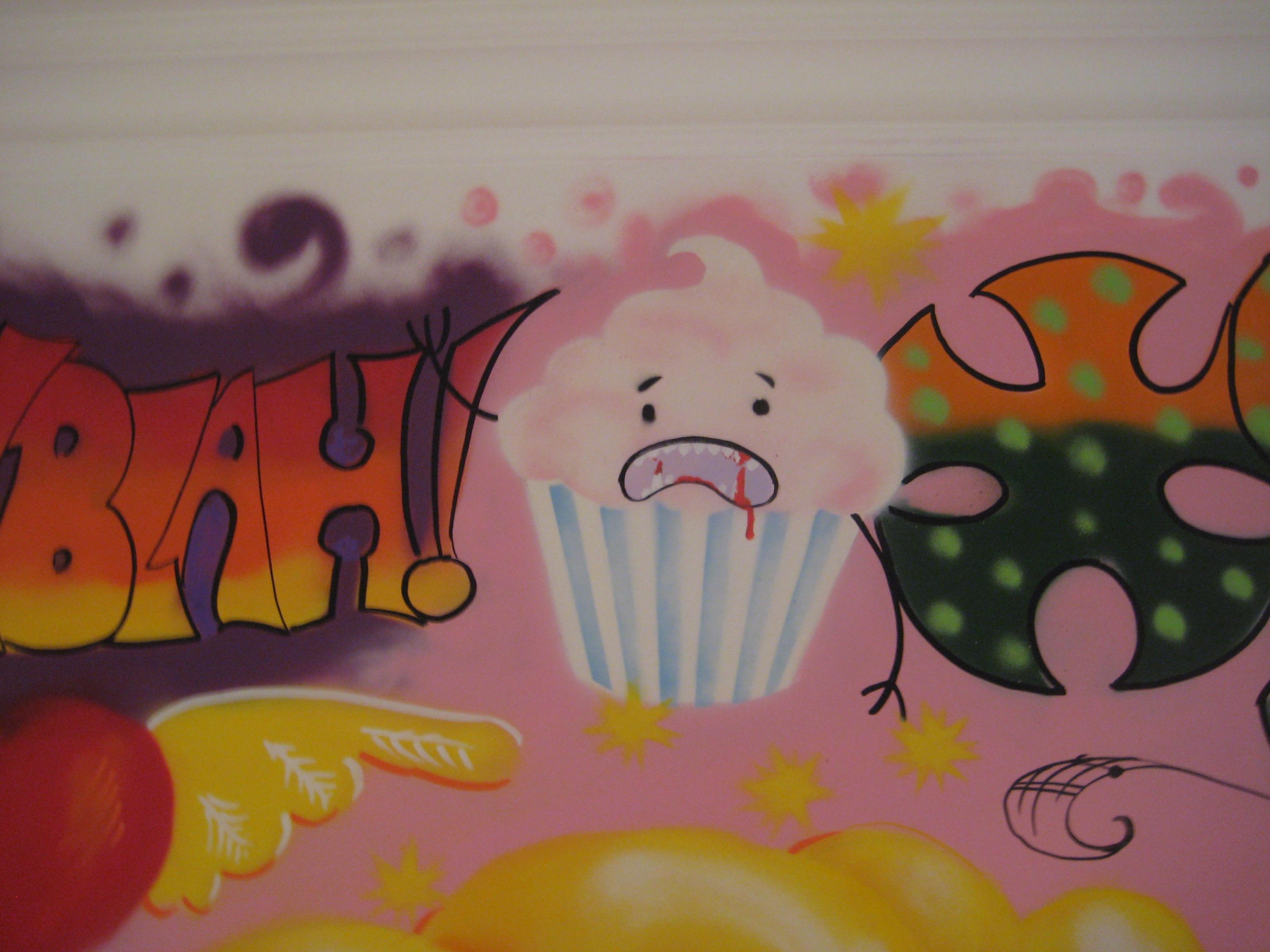 detail graffiti mural