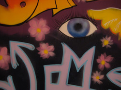 detail graffiti mural