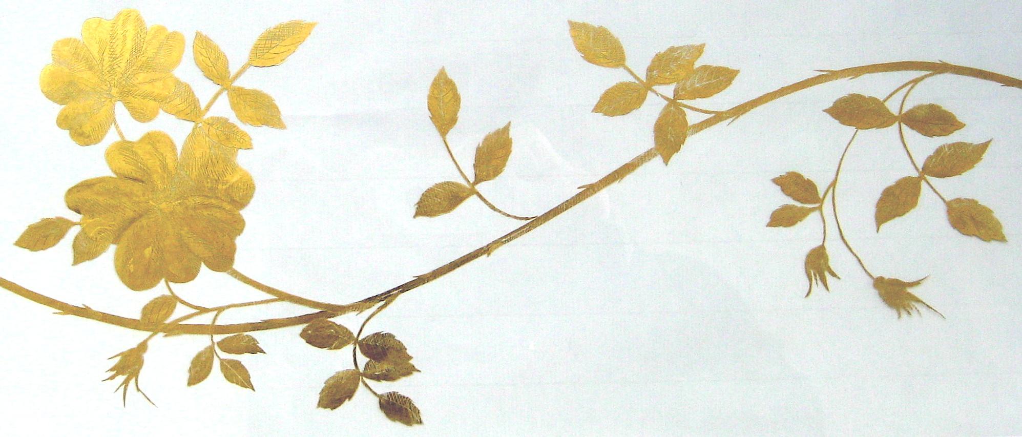 Eglomise Golden Roses