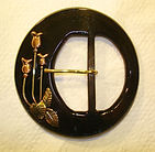 A hand-crafted belt buckle created in The Little Studio, NYC