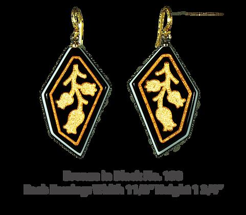 Bronze in Black Earrings No. 153