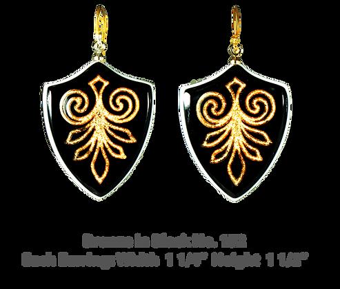 Bronze in Black Earrings No. 152