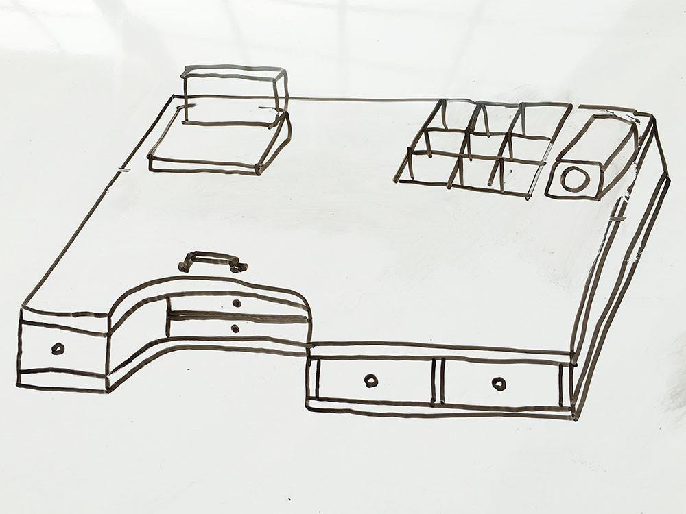 彫金 デスク 机 DIY 手作り 設計