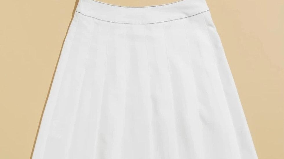 Teddy White Plaid Skirt