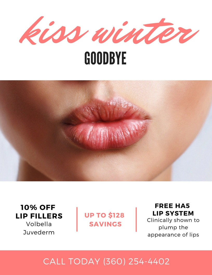 10% OFF lip fillers with a FREE SkinMedica HA5 Lip System