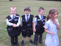 Reception class photos jubilee party and police car visit 004