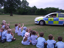 Reception class photos jubilee party and police car visit 027