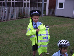 Reception class photos jubilee party and police car visit 003