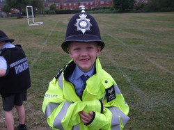 Reception class photos jubilee party and police car visit 023