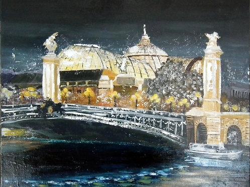PARIS - Le grand Palais et le pont Alexandre III