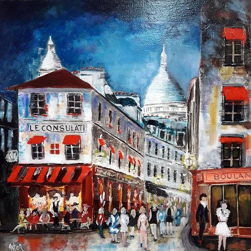 Paris  - Montmartre - Café le Consulat