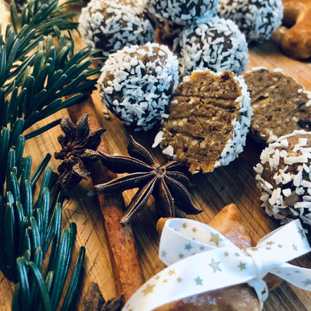Christmas mini-balls & Alcohol free Irish cream