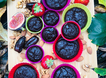 Cocoa-chickpeas muffins