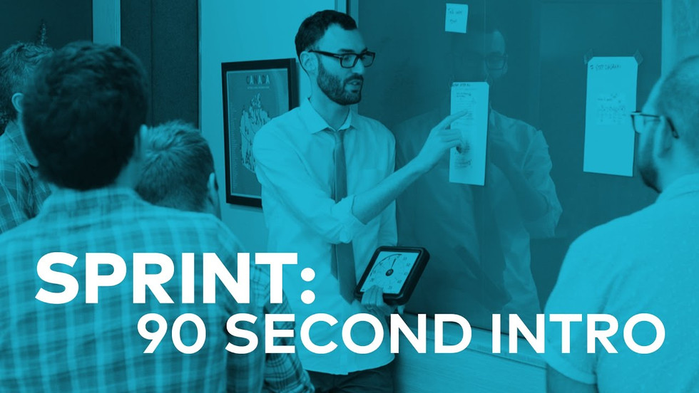 Join GV design partner Jake Knapp for a super-fast introduction to our sprint process. The big idea with the sprint is to build and test a prototype in just five days. It's kind of like fast-forwarding into the future so you can see how customers react before you invest all the time and expense of building a real product. Watch for a quick preview of the sprint process.
