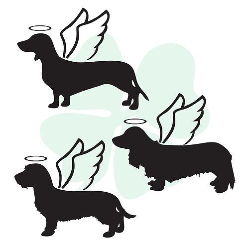 Dachshund Angel Vinyl Stickers