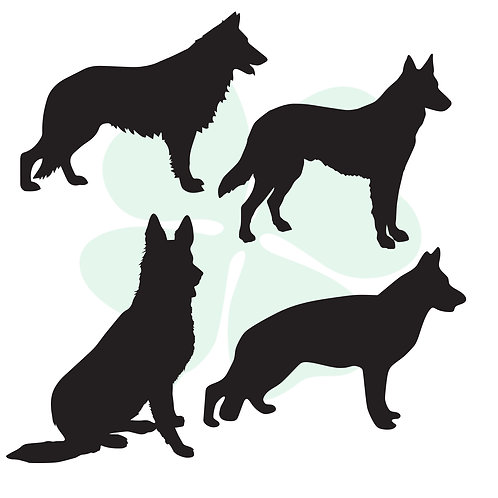 German Shepherd Vinyl Stickers